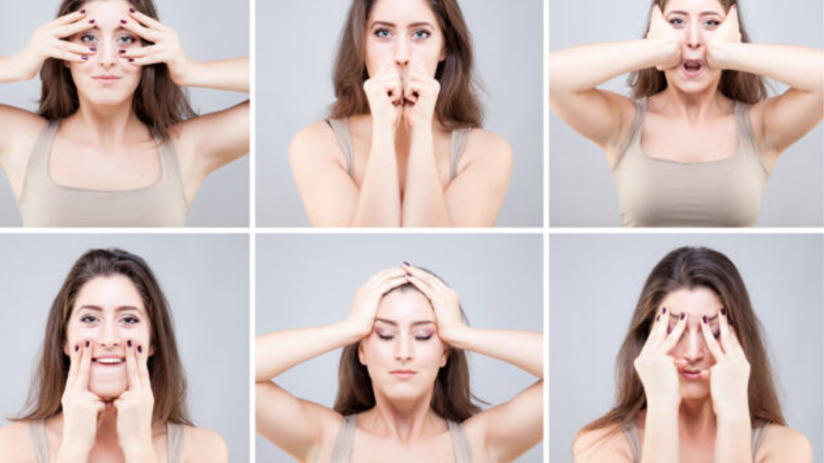 Move your face! Face yoga for tight skin.