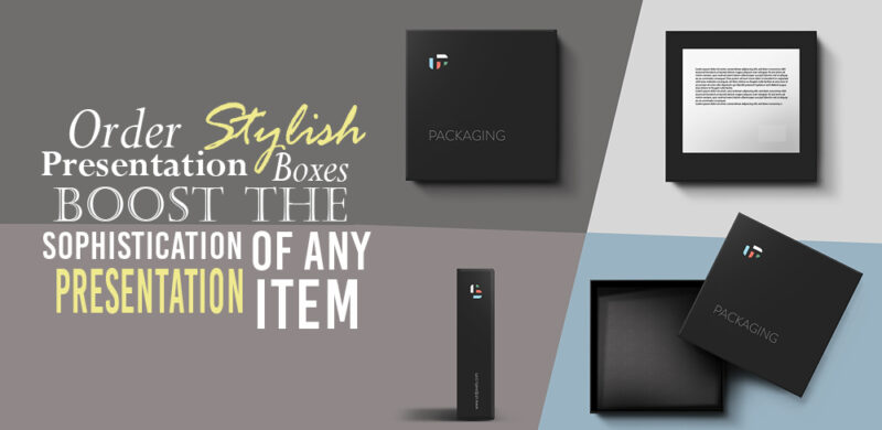 Stylish Presentation Boxes Boost The Sophistication Of Any Presentation Item